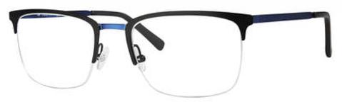 Adensco - Ad 118 53mm Matte Black Blue Eyeglasses / Demo Lenses