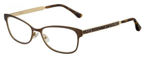 Jimmy Choo - Jc 203 54mm Matte Brown Eyeglasses / Demo Lenses