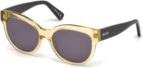 Just Cavalli - JC760S Shiny Yellow Sunglasses / Smoke Lenses