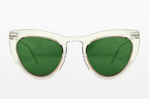 Spitfire - Outward Urge Clear / Gold Sunglasses / Green Lenses