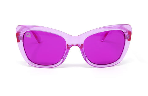 RainbowOPTX - Vega Transparent Magenta Sunglasses / Magenta Lenses