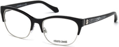 Roberto Cavalli - RC5023 Buggiano Shiny Black Eyeglasses / Demo Lenses