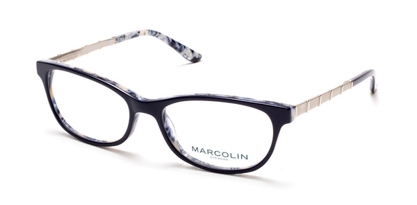 Marcolin - MA5014 53mm Blue Eyeglasses / Demo Lenses