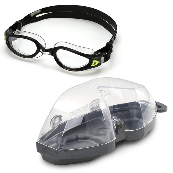 Aqua Sphere - Kaiman Exo SF Black Clear Swim Goggles / Clear Lenses