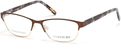Cover Girl - CG0537 Dark Brown Eyeglasses / Demo Lenses