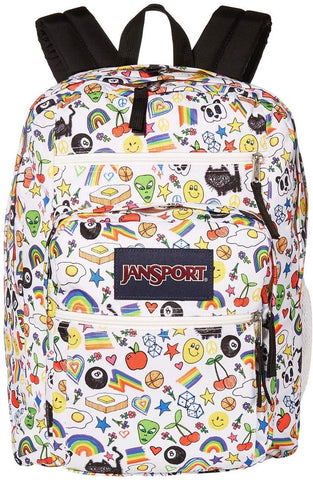 JanSport - Big Student Over The Rainbow Print Backpack