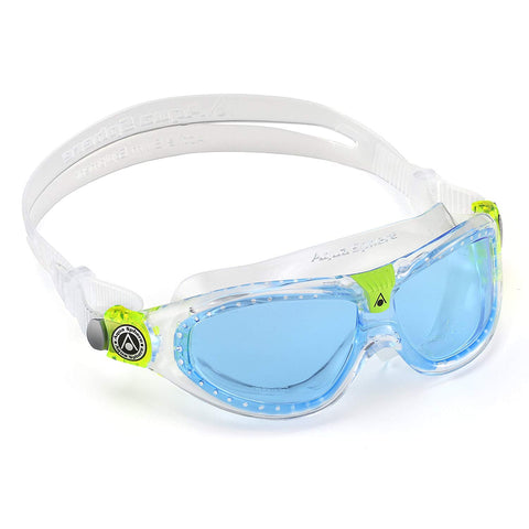 Aqua Sphere - Seal Kid 2 Translucent Lime Swim Goggles / Blue Lenses