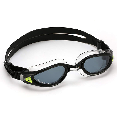 Aqua Sphere - Kaiman Exo Black Clear Swim Goggles / Smoke Lenses