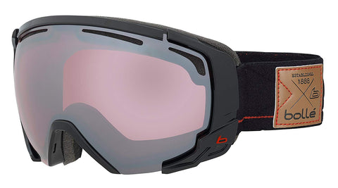 Bolle - Supreme OTG Shiny Black Red Snow Goggles / Vermillion Gun Lenses