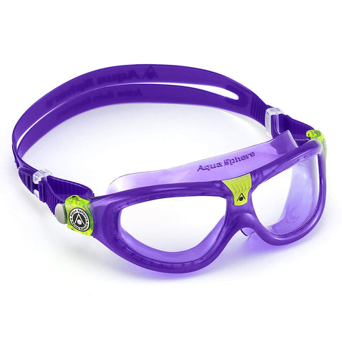 Aqua Sphere Moby Kid Translucent Yellow Swim Goggles / Blue Lenses
