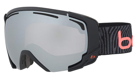 Bolle - Supreme OTG Matte Black Neon Orange Snow Goggles / Black Chrome Lenses