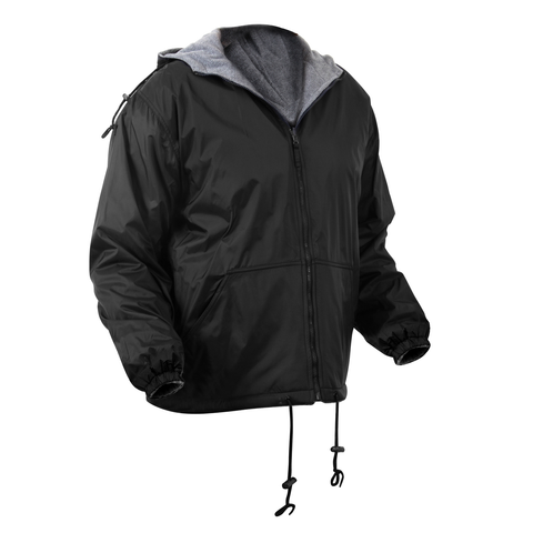 Rothco - Reversible Lined Black Hooded Jacket
