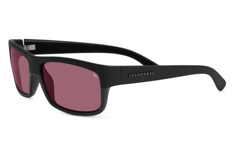 Serengeti - Martino Satin/Shiny Black Sunglasses, Polarized Sedona Lenses