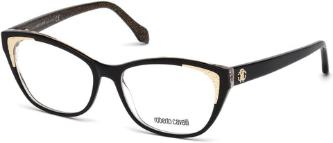 Roberto Cavalli - RC5033 Capannori Shiny Black Eyeglasses / Demo Lenses