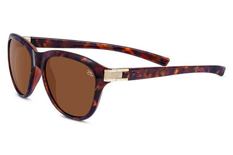 Serengeti - Elba Shiny Red Moss Tortoise Sunglasses, Polarized Drivers Lenses