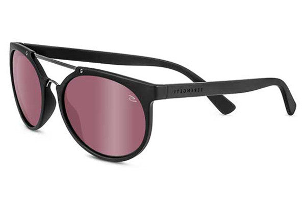 Serengeti - Lerici Satin Black/Shiny Dark Gun Sunglasses, Polarized Sedona Bi Mirror Lenses