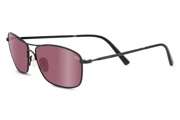 Serengeti - Corleone Satin Black Sunglasses, Polarized Sedona Bi Mirror Lenses