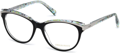 Emilio Pucci - EP5038 Shiny Black Eyeglasses / Demo Lenses