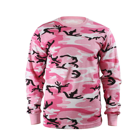 Rothco - Colored Pink Camo Long Sleeve Tee