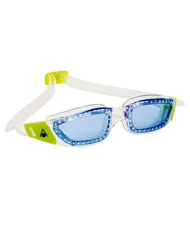Aqua Sphere - Kameleon Jr Transparent Lime Accents Swim Goggles / Blue Lenses