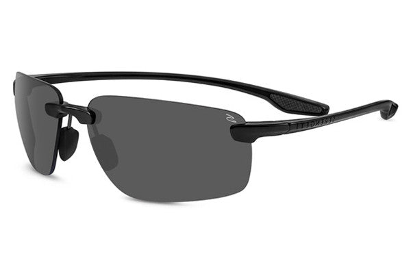 Serengeti - Erice Shiny Black Sunglasses, Polar PhD CPG Lenses