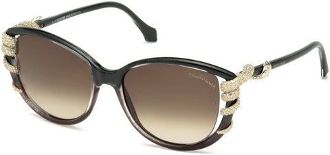 Roberto Cavalli - RC972S Sterope Grey Sunglasses / Gradient Brown Lenses