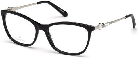Swarovski - SK5276 Shiny Black Eyeglasses / Demo Lenses
