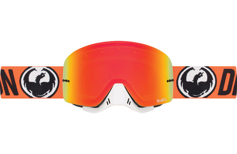 Dragon - NFX Flash Orange MX Goggles / Yellow Red Ion + Clear Lenses