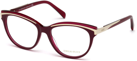Emilio Pucci - EP5038 Red Eyeglasses / Demo Lenses