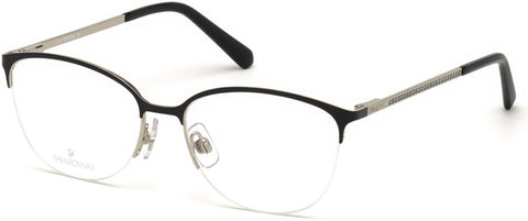 Swarovski - SK5296 Matte Dark Brown Eyeglasses / Demo Lenses