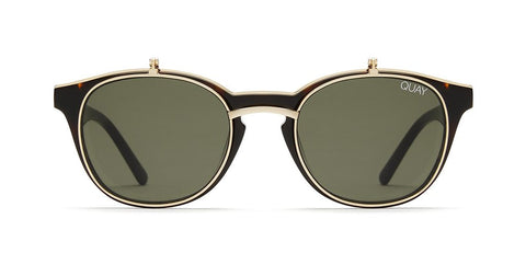 Quay - Penny Royal Tortoise Sunglasses / Green Lenses