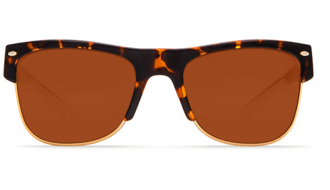 Costa - Pawley's  Shiny Retro Tortoise Sunglasses / Copper Polarized Plastic Lenses