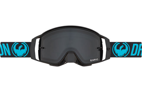 Dragon - NFX2 Blue MX Goggles / Injected Smoke + 10 pack Tear Offs + Lens Shield Lenses