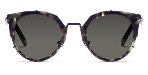 Westward Leaning - Sphinx 08 Matte Tokyo Tortoise Acetate Matte Black Metal Sunglasses / Standard Grey G15  Lenses