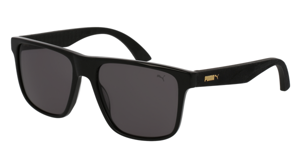 Puma - PU0104S Black Sunglasses / Smoke Lenses