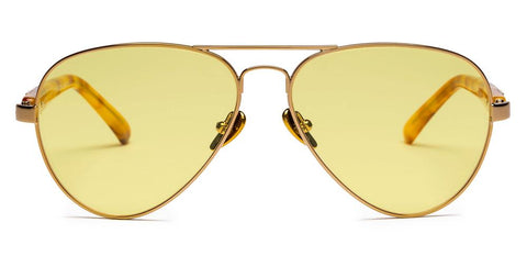 Westward Leaning - Concorde 20 Polished Gold Metal Sunglasses / Yellow Tint Lenses