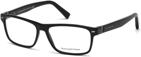 Ermenegildo Zegna - EZ5073 Shiny Black Eyeglasses / Demo Lenses