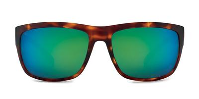 Kaenon - Redding Matte Tortoise Sunglasses / Brown 12 Coastal Green Mirror Lenses