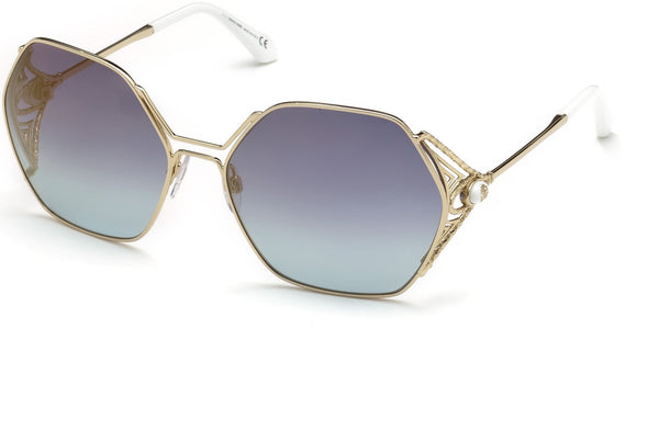 Roberto Cavalli - RC1056 Fosdinovo Gold Sunglasses / Blue Mirror Lenses