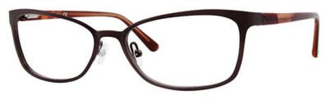 Adensco - Ad 222 53mm Plum Eyeglasses / Demo Lenses