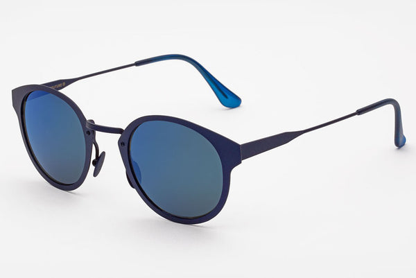 Super - Panama Synthesis Blue Metal Sunglasses