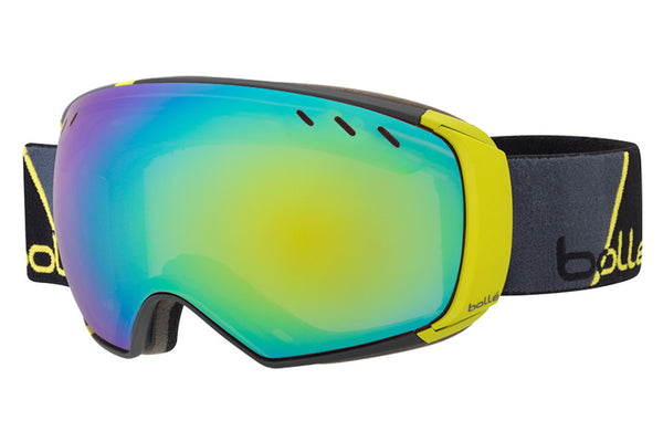 Bolle - Virtouse Black Stoke Goggles, Green Emerald + Aurora Lenses