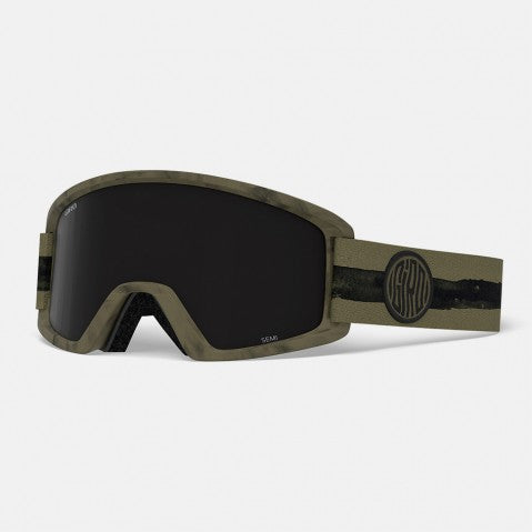 Giro - Semi Olive Dye Line Snow Goggles / Ultra Black + Yellow Lenses