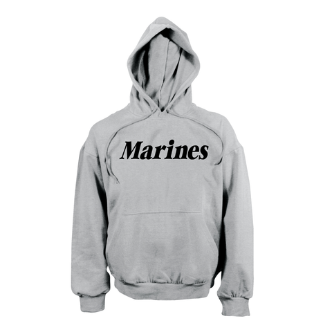 Rothco - Marines Hooded Pullover Grey Sweatshirt