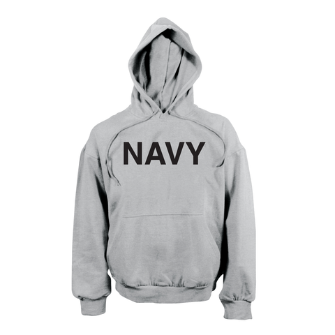 Rothco - Navy Hooded Pullover Grey Sweatshirt