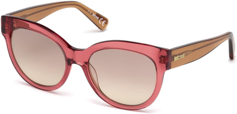 Just Cavalli - JC760S Shiny Bordeaux Sunglasses / Roviex Mirror Lenses