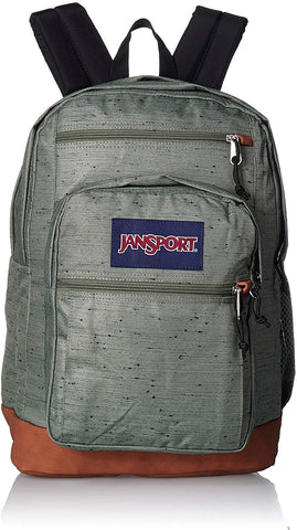JanSport - Cool Student Muted Green Plain Weave Backpack