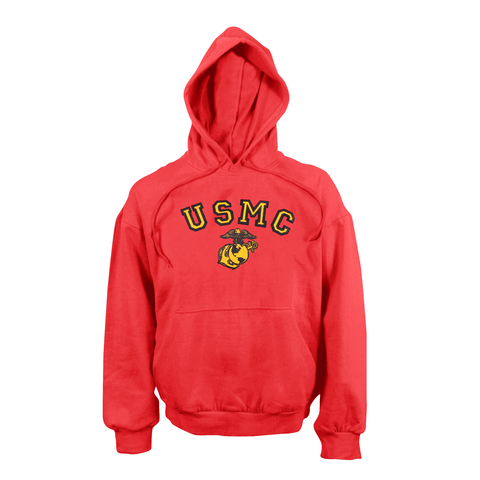 Rothco - USMC Globe & Anchor Hooded Pullover Red Sweatshirt