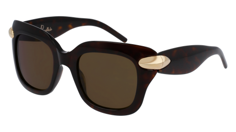 Pomellato - PM0017S 49mm Havana Sunglasses / Dark Brown Lenses