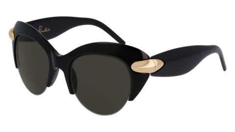 Pomellato - PM0018S  50mm Black Sunglasses / Shiny Smoke Lenses